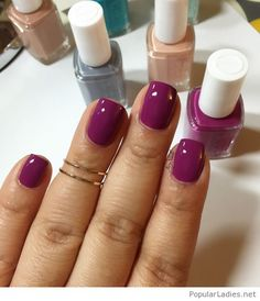 Beautiful nail polishes, love this purple one