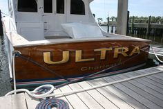 #TRANSOM: Ultra, Charleston #Boat #Transom #BoatTransom  TRANSOM #TECHNIQUE: #GoldLeaf  #BOAT #BUILDER #BoatBuilder: #GarlingtonBoatworks, #Stuart, #Florida