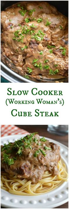 Slow Cooker Cube Steak in Mushroom Sauce This is one of those recipes that has been handed down from one farm wife to the next for generations. What& better than Cube Steaks that cook in the slow cooker? Crock Pot Recipes, Crockpot Dishes, Crock Pot Slow Cooker, Crock Pot Cooking, Beef Dishes, Slow Cooker Recipes, Beef Recipes, Cooking Recipes, Crockpot Meals