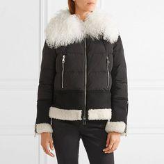 Fashion Luxury Designer Women Winter Short Down Coat With Wool Fur Collar Warm Coat Women