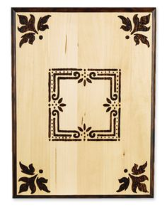 Elegant Wood Burned Plaque from @Michael Dussert Sullivan Stores - This wood decor craft is rustic and so chic.