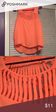 Coral Shirt Coral shirt! Worn once Charlotte Russe Tops Tank Tops