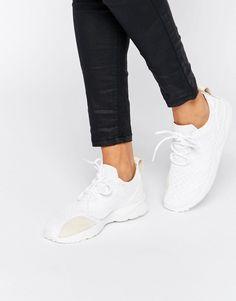 adidas Originals Off White ZX Flux Verve Mesh Trainers
