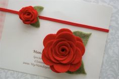 Mother Daughter Matching Felt Flower Headband   by MyMondaysChild, $9.99