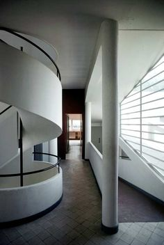Villa Savoye (interior), Poissy, France by Le Corbusier, completed 1929. Photograph by Harry Seidler, 1978. / Roslyn Oxley 9