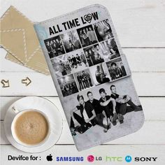 All Time Low Photo Collage Leather Wallet iPhone 4/4S 5S/C 6/6S Plus 7  Samsung Galaxy S4 S5 S6 S7 NOTE 3 4 5  LG G2 G3 G4  MOTOROLA MOTO X X2 NEXUS 6  SONY Z3 Z4 MINI  HTC ONE X M7 M8 M9 CASE