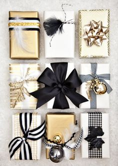 Holiday Gift Wrapping Ideas   http://www.hammerandheelsblog.com/holiday-gift-wrapping-ideas/