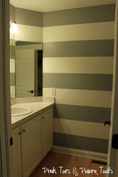 90 best Painting Stripes images on Pinterest in 2018 | Stripe walls Bathroom Earth Tone Paint Design Html on beige bathroom designs, navy bathroom designs, mosaic tile bathroom designs, fuschia bathroom designs, white bathroom designs, sage bathroom designs, men's bathroom designs, electric blue bathroom designs, brick bathroom designs, hot pink bathroom designs, vintage bathroom designs, cheap bathroom designs, gold bathroom designs, espresso bathroom designs, new home bathroom designs, mauve bathroom designs, fixer upper bathroom designs, chocolate bathroom designs, mint bathroom designs, mahogany bathroom designs,