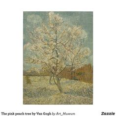 The Pink Peach Tree Canvas Print / Canvas Art by Vincent van Gogh Van Gogh Landscapes, Landscape Paintings, Art Paintings, Wall Art Prints, Poster Prints, Canvas Prints, Canvas Artwork, Vincent Van Gogh, Tree Canvas