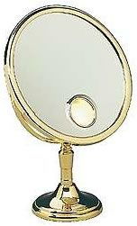 """The French Reflection Petite Boutique Elegance 9-1/2"""" Table Makeup Mirror - Only 15"""" High   seattleluxe.com"""