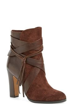 Size 7 this color Vince Camuto 'Charisa' Bootie (Women) available at Bootie Boots, Shoe Boots, Cold Weather Fashion, Distressed Leather, Fashion Boots, Women's Fashion, Vince Camuto, Women's Shoes Sandals, Leather Boots