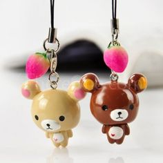 Bear couple phone pendant
