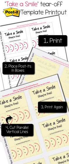 DIY Secret How to Print on Post-It Notes (and Free Printable - free note template