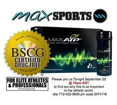 Tonight's Max Sports Call Discusses Our Exciting New BSCG Certification Check more Detail www.bscg.org