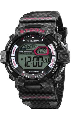 Diadora watch DI-016 Diadora digital sport wrist  watch men's  black #Diadora