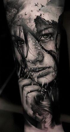 dazzling double exposure tattoo tattoo artist Thomas Carli Jarlier Ÿ diy tattoo - diy Diy Tattoo, Tattoo Line, Tattoo Fonts, Tattoo Symbols, Best Sleeve Tattoos, Leg Tattoos, Body Art Tattoos, Small Tattoos, Tattoos For Guys