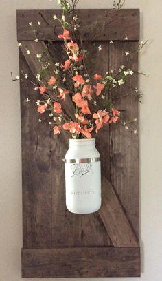 Gorgeous Painted Mason Jar Flower Decor