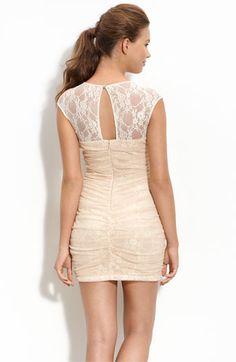 NYE? nordstrom.com En Creme Lace Illusion Dress $68