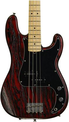 Fender Bass Limited Edition Sandblasted Precision Bass with Ash Body - Crimson Red