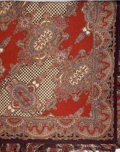 Wool shawl  Probably Scottish, About 1860  Scotland  Printed wool