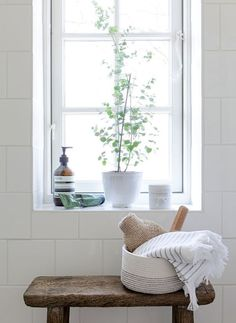 Pflanzen im badezimmer Pflanzen im badezimmer Bad Inspiration, Decoration Inspiration, Bathroom Inspiration, Interior Inspiration, Decor Ideas, Interior Ideas, Interior Decorating, Decorating Ideas, Bathroom Windows