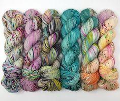 Hand Dyed Yarn by PeggyJaneFibers Crochet Yarn, Knitting Yarn, Yarn Color Combinations, Yarn Cake, Yarn Inspiration, Yarn Stash, Yarn Projects, Sock Yarn, Hand Dyed Yarn