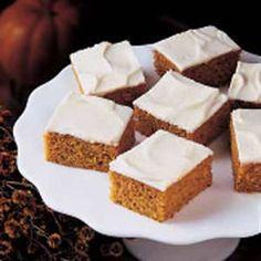 Best ever....Pumpkin Bars Recipe.