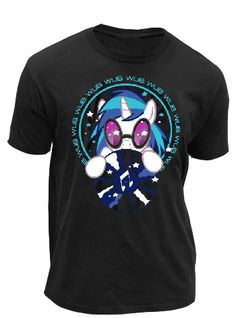 """If you picked up a DJ-Pon 3 figure at this years San Diego Comic Con, then you know how many My Little Pony fans really love the hottest Pony DJ working in Equestria.   Now you can show your """"Wub"""" for Vinyl Scratch (DJ Pon-3) with when you wear this totally rad My Little Pony Wub To Wub You DJ Pon-3 Adult Black officially licensed shirt!      Black     100% Cotton     Standard Fit     Officially Licensed  #mylittlepony #brony"""