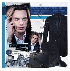 """JAMIE CAMPBELL : Wool Suit"" by alves-nogueira ❤ liked on Polyvore featuring Alexander McQueen, Trilogy, Canali, Smythson, Guidi, Lanvin, Le Gramme and Junghans"