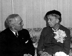 Eleanor Roosevelt and Harry Truman