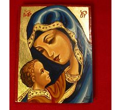 Items similar to Handpainted icon of Holy Virgin Compassion-OOAK freeshipping on Etsy Christmas Art, Handmade Christmas, Pope Of Rome, Burlap Monogram, Felt Gifts, Religious Icons, Our Lady, Wood Carving, Handmade Crafts