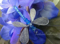 Blue Dragonfly Pendant Blue Jewelry Whimsical by JustJaeFashions