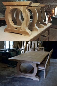 Dining Table In Kitchen, Dining Tables, Table And Chairs, Table Maker, Wood Bedroom Sets, Table Designs, French Oak, Bespoke Furniture, Solid Oak
