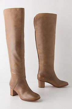 Love the heel!!!    Rory Knee Boots #anthropologie