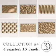 Collection #4 - 6 seamless 3D panels