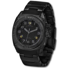MTM SPECIAL OPS TITANIUM BLACK ON BLACK FALCON MILITARY WATCH
