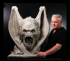 Don Lanning is too awesome: wizard of oz flying monkey/ kong hybrid sculpt