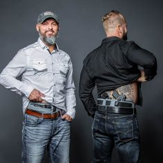 Men can carry with confidence in their holster. The Phantom 360 & Phantom offer trigger protection, concealment, comfort, and security. Concealed Carry Weapons, Weapons Guns, Guns And Ammo, Tactical Clothing, Tactical Gear, Tactical Wall, Pistol Annies, Leather Holster, Hand Guns