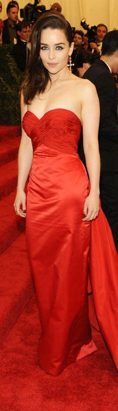 Emilia Clarke in Ralph Lauren