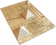 Giza Necropolis Pyramids Paper Model Diorama - by Armada Models Step Pyramid, Great Pyramid Of Giza, Pyramid Model, Kirigami, Egyptian Crafts, Pyramids Of Giza, Flyer Layout, Project Based Learning, Paper Folding