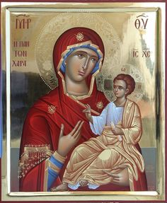 Byzantine Icons, Byzantine Art, Blessed Mother Mary, Blessed Virgin Mary, Religious Icons, Religious Art, Madonna Art, Religion, Images Of Mary
