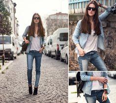 Katerina Kraynova - Oasap Top, Persunmall Jeans - Denim MIx #3