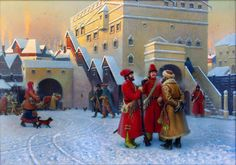 Russian Streltsi troops in Moscow
