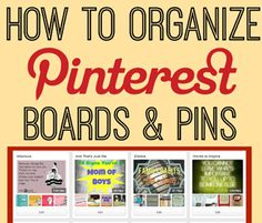 How to Organize Pinterest Boards by BethAtStructure