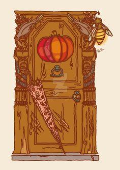 Hagrid's house door by RaRo81.deviantart.com on @DeviantArt
