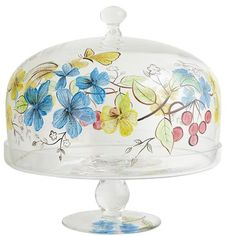 Colored Cake Stands With Dome