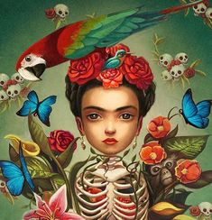 Frida Khalo by Benjamin Lacombe Art And Illustration, Illustrations, Art Fantaisiste, Frida And Diego, Frida Art, Frida Kahlo Artwork, Mark Ryden, Diego Rivera, Images Vintage