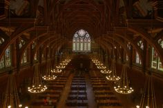 The Annenberg Hall at Harvard University is nearly identical to the 'Great Hall'— with the exception of the floating candles on its ceiling. According to its website, Annenberg Hall served as a student commons that hosted dances, banquets and rehearsals before becoming a dining hall for university students — magically-appearing meals not included.