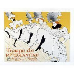 ''Troupe de Mlle Eglantine'' by Henri de Toulouse-Lautrec Museum Art Print