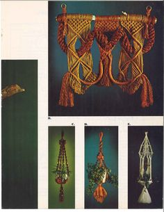 Creations in Macramé Hanging Wall Art, Hanging Plants, Wall Hangings, Macrame Plant Hanger Patterns, Macrame Patterns, Book Wall, Macrame Knots, Owl Art, Pattern Books